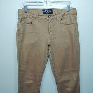 Lucky Brand Sofia Skinny Ankle Gold Jeans size 10